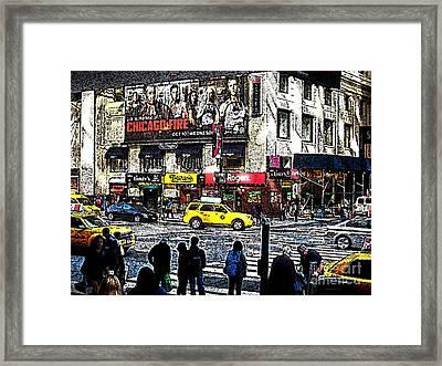 Streets Of Manhattan 20 Framed Print by Mario Perez