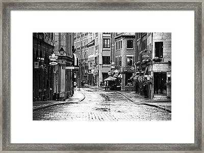 Streets Of Montreal Framed Print by John Rizzuto