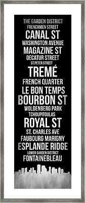 Streets Of New Orleans 2 Framed Print by Naxart Studio