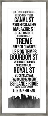 Streets Of New Orleans 3 Framed Print by Naxart Studio