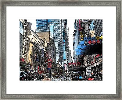 Streets Of New York City 6 Framed Print by Mario Perez