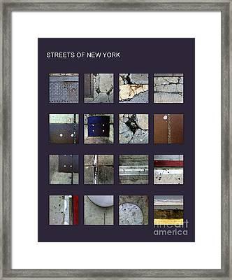 Streets Of New York Poster Framed Print by Marlene Burns