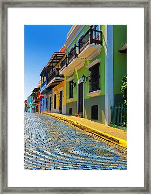 Streets Of Old San Juan Framed Print by Stephen Anderson
