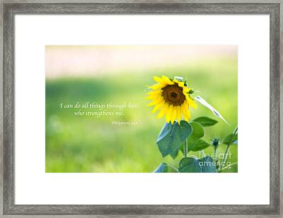 Strengthened By Grace Framed Print by Scott Pellegrin