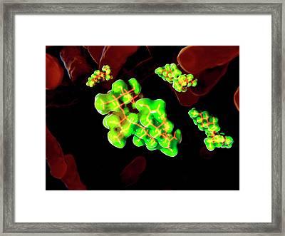 Streptomycin Antibiotic And Bacteria Framed Print by Juan Gaertner