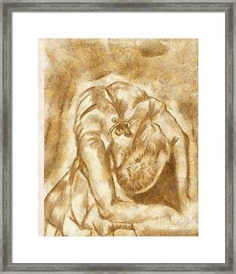 Stretching Ballerina Framed Print by Yanni Theodorou