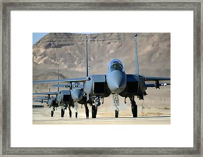 Strike Eagles Framed Print by Master Sgt Lee Osberry