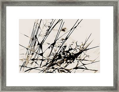 Strike Out Neutral Colors Abstract Framed Print by Natalie Kinnear