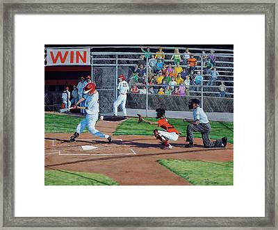 Strike Framed Print by Timithy L Gordon
