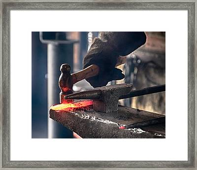 Strike While The Iron Is Hot Framed Print by Trever Miller