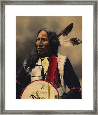 Strikes With Nose Oglala Sioux Chief  Framed Print by Heyn Photo