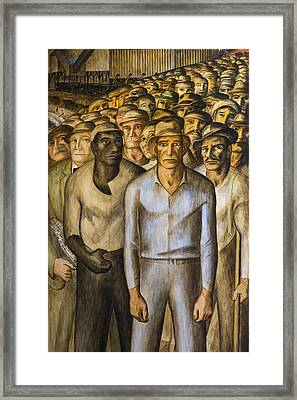 Striking Miners Mural In Coit Tower Framed Print by Adam Romanowicz