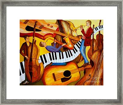 Strings And Things Framed Print by Larry Martin
