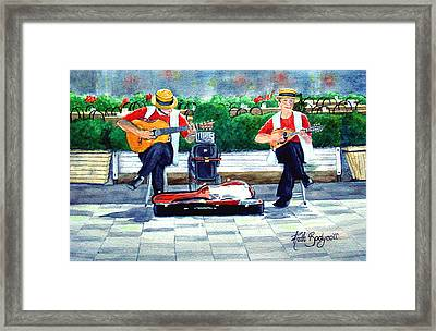 Strings At The Sidewalk Cafe Framed Print by Ruth Bodycott