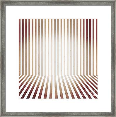 Striped Retro Wallpaper. Interior Background Framed Print by Jorgo Photography - Wall Art Gallery
