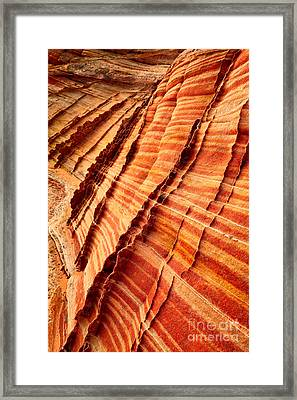 Striped Sandstone Framed Print by Inge Johnsson
