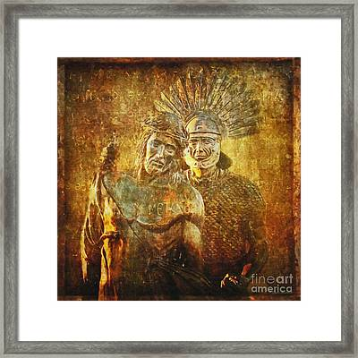 Stripped Of His Garments Via Dolorosa 10 Framed Print by Lianne Schneider
