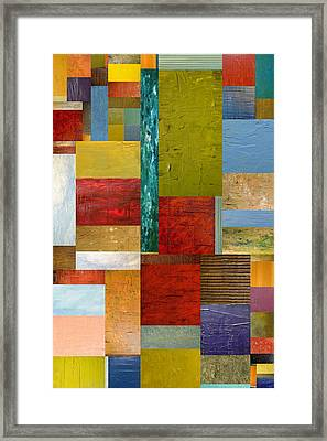 Strips And Pieces Lll Framed Print by Michelle Calkins