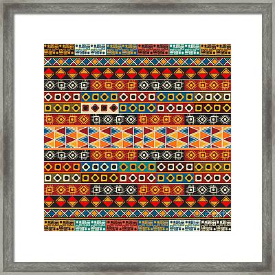 Strips Motifs Pattern Framed Print by Richard Laschon