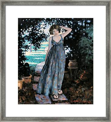 Strolling Framed Print by Kevin Lawrence Leveque