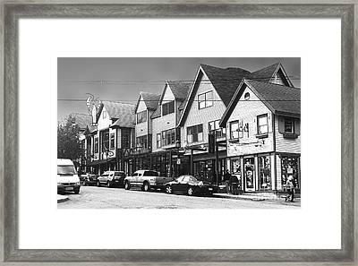 Strolling The Streets Of Bar Harbor Framed Print by Betty LaRue