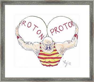 Strong Nuclear Force Framed Print by Mike Jory