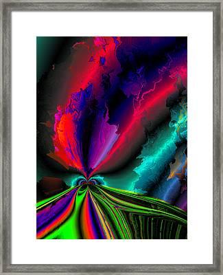 Struck By Lightning Framed Print by Claude McCoy