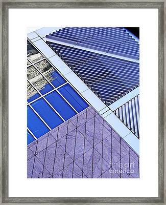 Structural Abstract 7 Framed Print by Sarah Loft