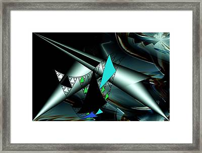 Structural Design Framed Print by Romuald  Henry Wasielewski