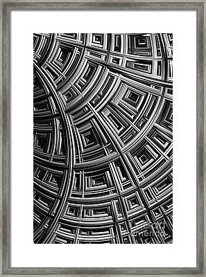 Structure Framed Print by John Edwards