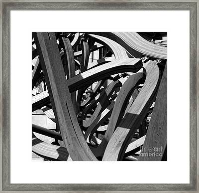 Structure Framed Print by Tom Gallahue
