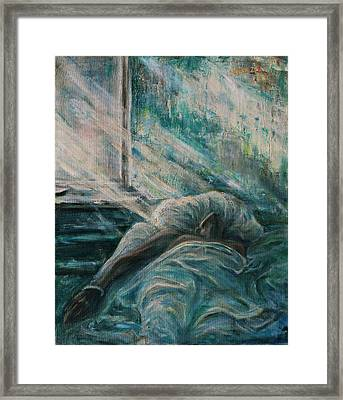 Struggling... Framed Print by Xueling Zou