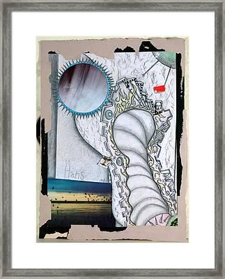 Student Work 2 1980s Framed Print by Hans Kaiser