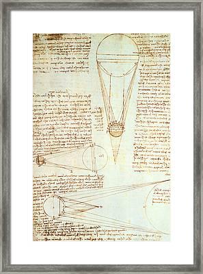 Studies Of The Illumination Of The Moon Framed Print by Leonardo Da Vinci