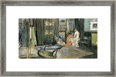 Studio Of Robert F. Blum, C.1883-84 Pastel On Paper Framed Print by Robert Frederick Blum