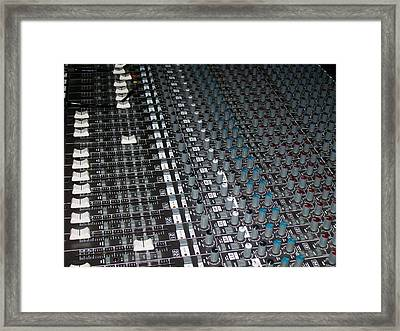 Studio Sound Mixing Board Framed Print by Mountain Dreams