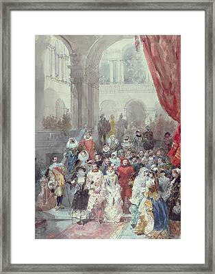 Study For A Costume Ball Given By The Princess Of Sagan Framed Print by Eugene-Louis Lami