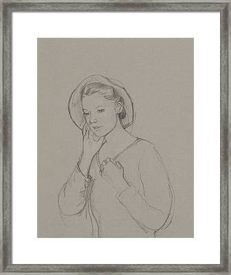 Study For Elizabeth Bennet Framed Print by Caroline Hervey Bathurst