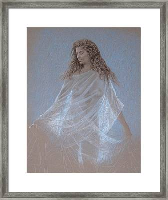 Study For Evening Framed Print by Wes Lee