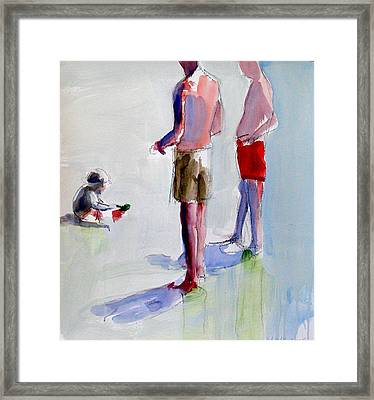 Study For Grandfathers Framed Print by Daniel Clarke