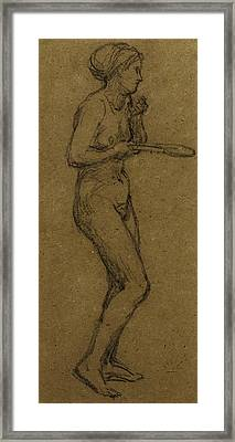 Study For Shuttlecock Framed Print by Albert Joseph Moore