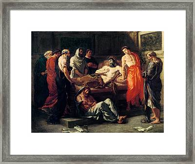Study For The Death Of Marcus Aurelius Framed Print by Ferdinand Victor Eugene Delacroix