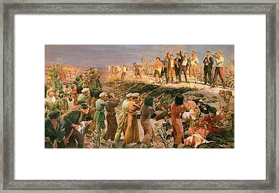 Study For The Execution Of The Twenty Six Baku Commissars Framed Print by Isaak Israilevich Brodsky