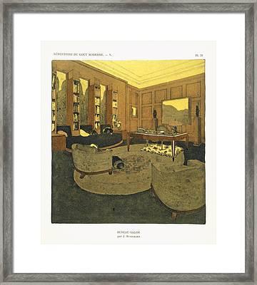 Study, From Repertoire Of Modern Taste Framed Print by Jacques-Emile Ruhlmann