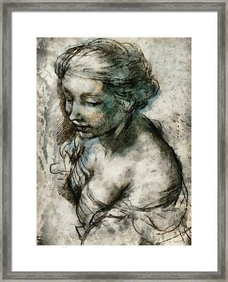 Study Framed Print by Gun Legler