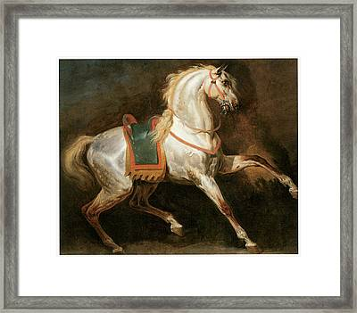 Study Of A Horse Framed Print by Emile-Jean-Horace Vernet
