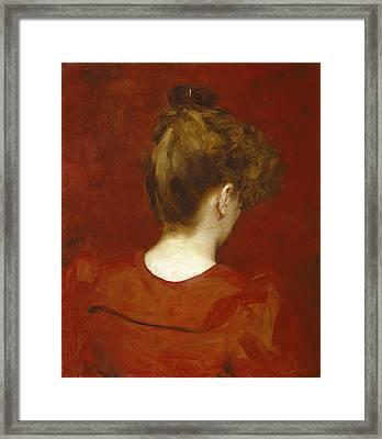 Study Of Lilia Framed Print by Charles Emile Auguste Carolus Duran