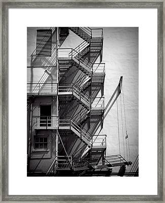 Study Of Lines And Shadows Framed Print by Rudy Umans