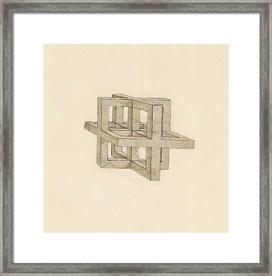 Study Of Perspective  Framed Print by Leonardo Da Vinci
