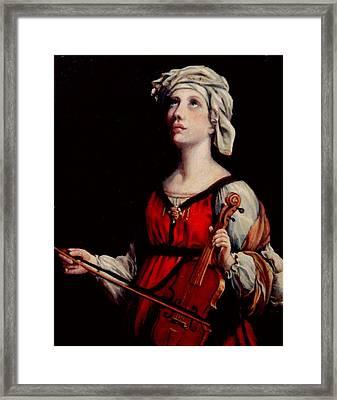 Study Of St. Cecelia Framed Print by Donna Tucker